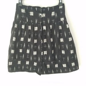 UO Black and White Printed Full Skirt